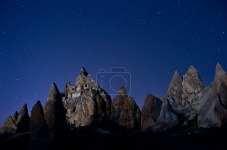 Mountain landscape in Cappadocia at