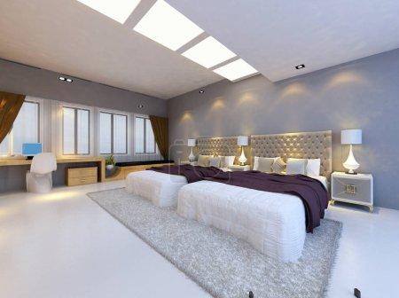 rendering bed room