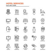 Flat Line Icons- Hotel Service