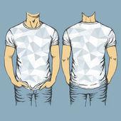 blue polygonal t-shirts templates
