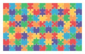 jigsaw puzzle set of 104 colorful pieces