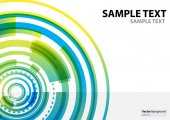 A4 template technology abstract theme