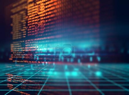 Photo pour Programmation code abstrait technologie fond de développeur de logiciels et Computer scrip - image libre de droit