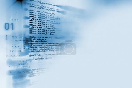 Photo pour Programmation code technologie abstraite fond de développeur logiciel et script de l'ordinateur - image libre de droit