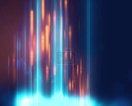 Photo pour Bleu géométrique abstrait technologie et science backgroun - image libre de droit