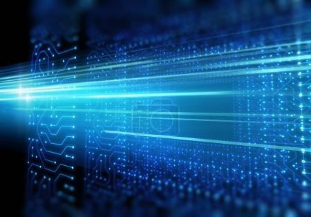 motif de circuit bleu futuriste illustration abstraite de fond