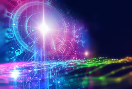 Photo for Backdrop design of sacred zodiac symbols, signs, geometry and designs  represent concept of  astrology, alchemy, magic, witchcraft and fortune tellin - Royalty Free Image