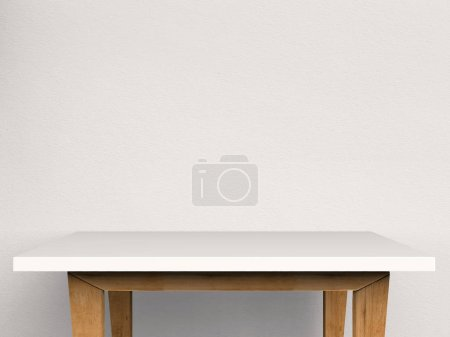 empty white table