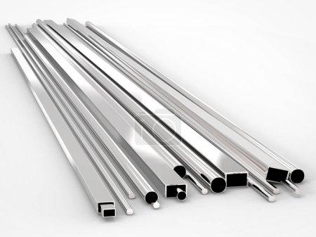 Shiny metal pipes