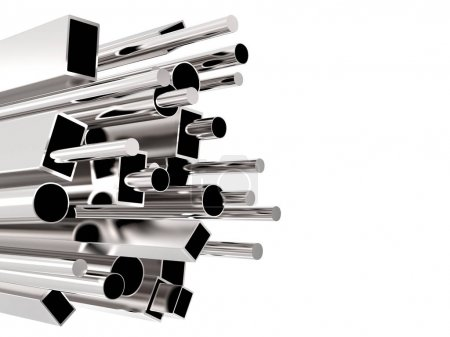 Bunch of metal pipes