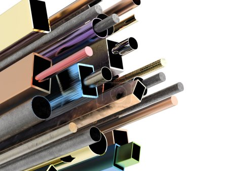Colorful pipes isolated