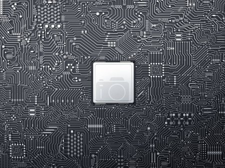 Photo for 3d rendering cpu chip on circuit board background - Royalty Free Image