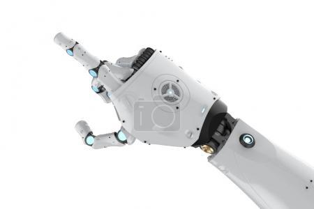Cyborg-Arm isoliert