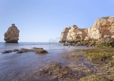 Long exposure at beautiful Marinha beach