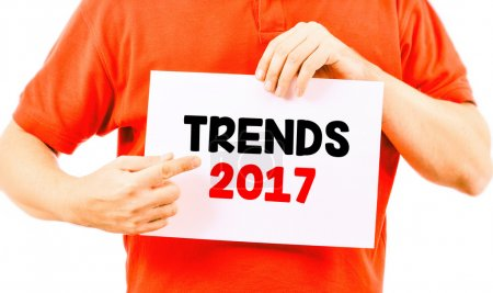 card with inscription trends 2017