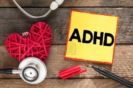 ADHD. Medicine concept