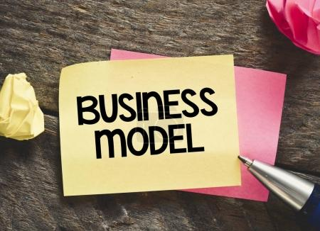 Sheet of paper with text business model