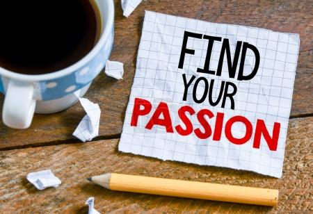 find your passion on sheet of paper