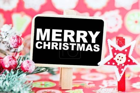 merry christmas on black board
