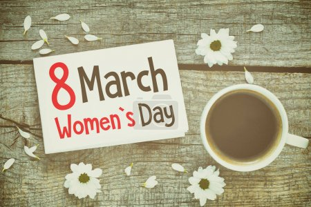 Photo for International Women's day card on background. - Royalty Free Image
