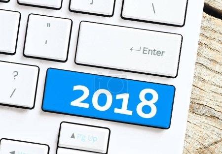 2017 inscription on keyboard