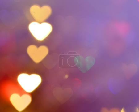 Abstract heart bokeh as background Valentine day background