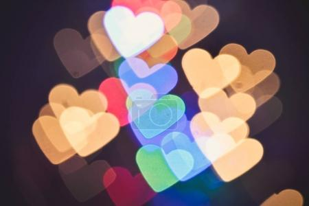 Valentines background / Abstract hearts bokeh as background Valentine day background