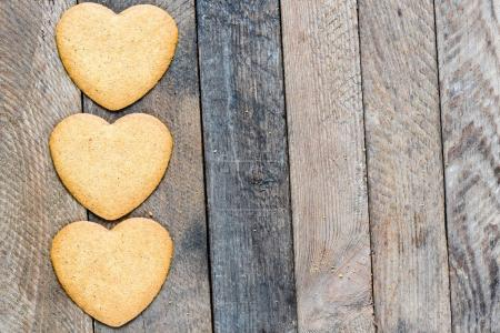 Heart shaped cookies  isolated on background