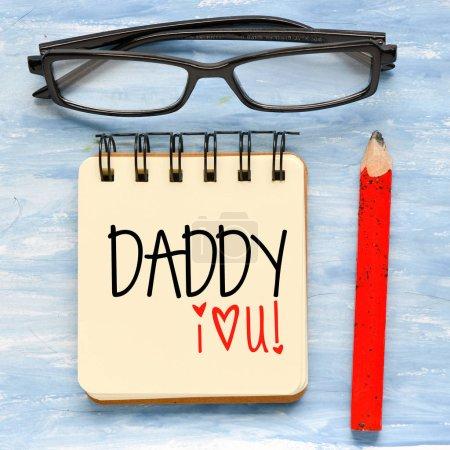 carte de voeux pour le jour heureux pères