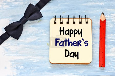 Happy fathers day greeting card on blue background