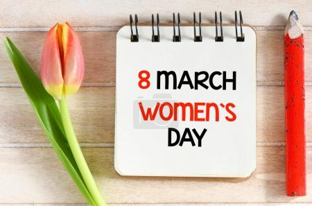 Womens day, 8 March Women`s Day greeting card