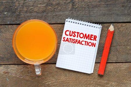 Customers satisfaction word concept