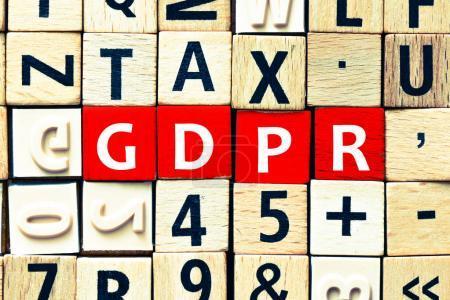 Photo pour General Data Protection Regulation (GDPR) - image libre de droit