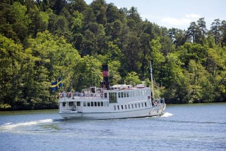 old-time steamer on Lake Maelaren