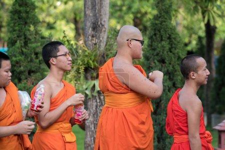 Buddhist Monks at Wat Prasing, Chiang Mai, Thailand