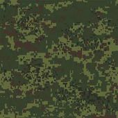 Digital pixel camouflage seamless pattern for your design Vector Texture