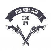 Firearm logo template Guns rifles badge Flat design