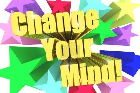 Photo pour Devise de change Your Mind. Texte d'or avec étoiles vives. rendu 3D - image libre de droit