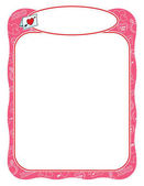 Valentine frame with love letter pink and wavy