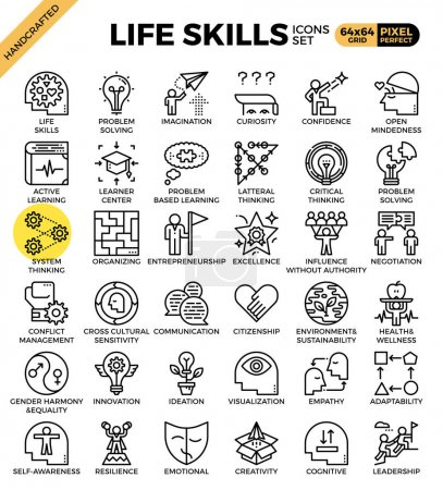 Life skills concept icons