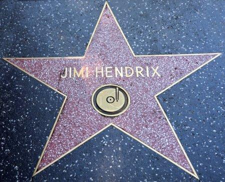 Jimi Hendrix star on the