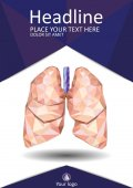 Book cover low poly human lungs Annual report A4 Medical journals conferences magazines Academic research Vector illustration