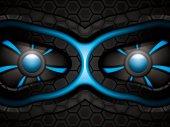 Blue robot face