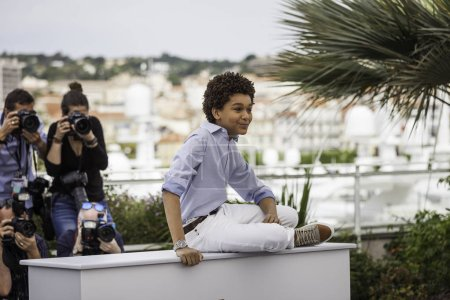 Jaden Michael at photocall in Cannes