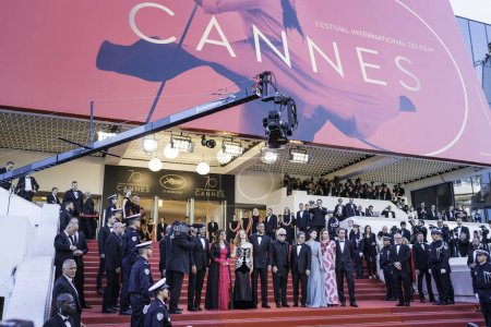 CANNES, FRANCE - MAY 17: Jury members Will Smith, ...
