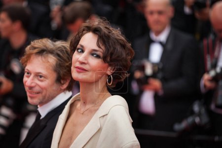 Jeanne Balibar and Mathieu Amalric at Cannes