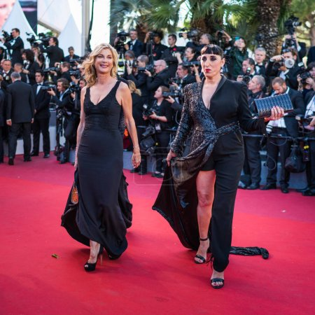 Michele Laroque and Rossy de Palma in Cannes