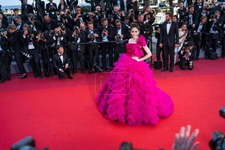 Araya Hargate attends Cannes Film Festival