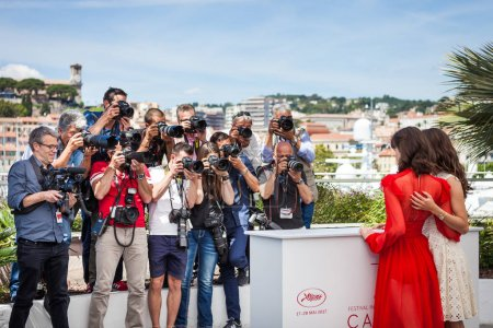 Stacy Martin and Berenice Bejo in Cannes