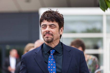 CANNES, FRANCE - MAY 09, 2018: Benicio Del Toro attending the Jury Un Certain Regard photocall during the 71st annual Cannes Film Festival
